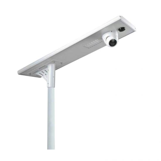 solar street light with cctv camera